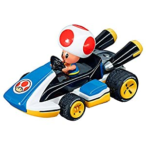 Mario Kart Nintendo Figura Pull Speed Toad, Multicolor, Talla Única (Carrera 9.00315E+12)
