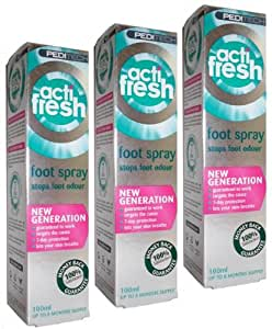 Triple Pack- PediTech Actifresh foot and shoe treatment
