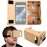 DURAGADGET Gafas de Realidad Virtual VR para Smarphones Smartphone Archos 50 Graphite, Archos 55 Graphite , Medion Life E4503 , E5001 , E5520 , P5005 , X5020