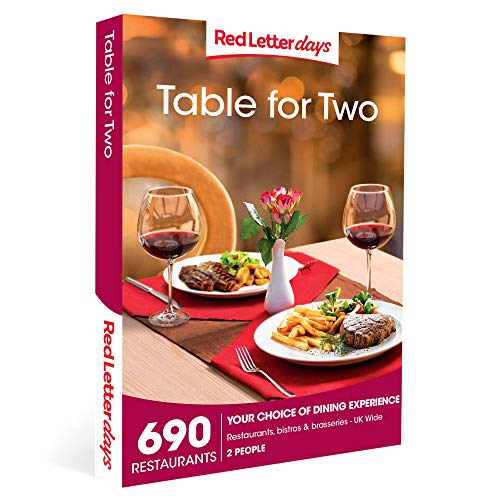 Red Letter Days Table for Two Gift Voucher - 690 dining out experiences for two