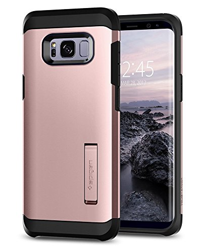 Spigen [Tough Armor Samsung Galaxy S8 Hülle, Doppelte Schutzschicht Handyhülle für Extrem Fallschutz Schutzhülle Case (Rose Gold) 565CS21998