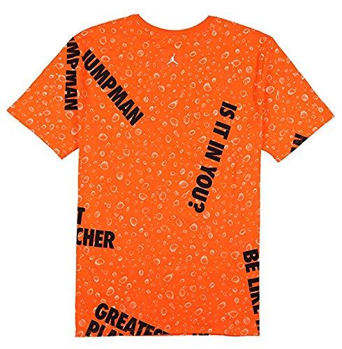 Jordan Herren T-Shirt 1 Be Like Mike Gatorade Retro, XXXL, Orange/Schwarz