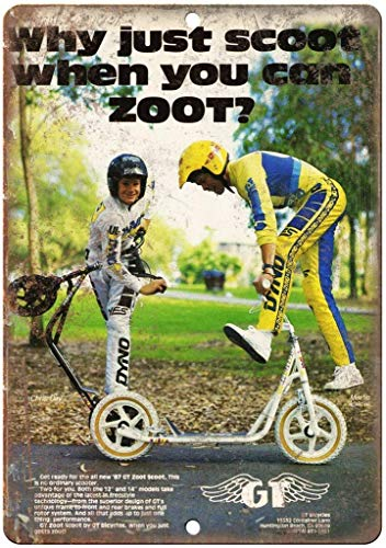 Larry Sageasd Gt Zoot BMX Scooter Freestyle Bike Blechschild Plaque Wandkunst Poster Dekoration