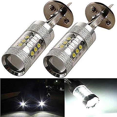 katur 80W 2x h1Ampoule Lampe LED DRL Ampoule de voiture LED Phare avant