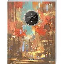 """TULPE Punktraster Notizbuch A4 /""""C141 Niedliche Katzen/"""" 140+ Seiten, Vintage Softcover, Punktkariertes Papier - Bullet Journal, Dickes Notizheft, ... Gepunktete Seiten, Dot Grid Notebook"""