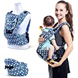 Amzdeal für Babys und Kleinkinder von 3-36 Monaten Babytrage mit integriertem Sitz in Blau Baby Carrier
