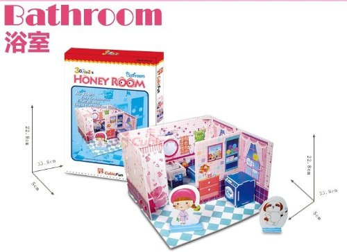 "CubicFun 3D Puzzle DIY-Serie ""Honey Room - Cuarto de Ba?o"""