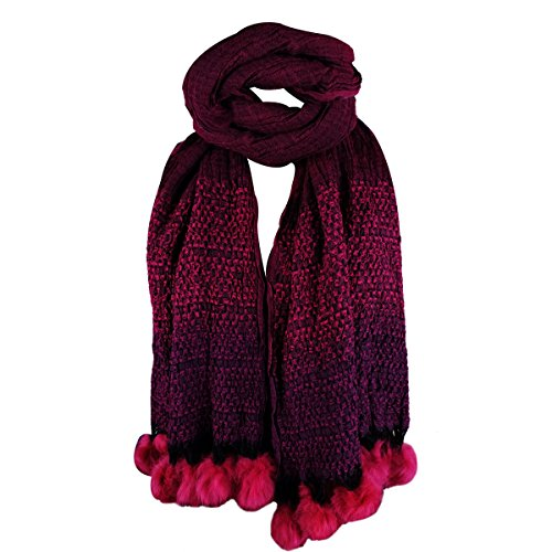 Super Drool Purple Animal Print with Pom Stole