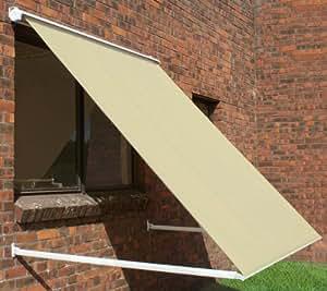 Tende da Sole Avvolgibile a caduta con cassonetto parziale da 2.0 metri, di colore avorio