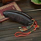 AJS Ebony Comb Natural Genuino Fuerte Durable Exquisito Colgante Personas que utilizaron el peine dijo que era un buen peine!