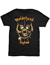 Motorhead England War Pig Mustard Official Mens New Black T Shirt All Sizes
