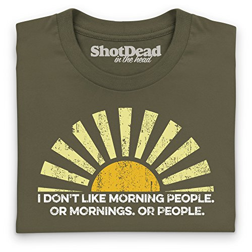 Morning People T-Shirt, Herren Olivgrn