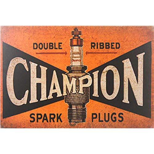 Facile Painter Champion Sign, Étain, Signes Drôles, Vintage rétro Plaque en métal, pour Ranger pièces de Votre Maison à Barre de café Cour, Art Décor Mural, Double rainure Spark Plugs, 20 x 30 cm,
