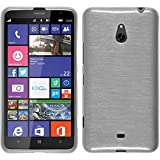 PhoneNatic Custodia Nokia Lumia 1320 Cover bianco brushed Nokia Lumia 1320 in silicone + pellicola protettiva