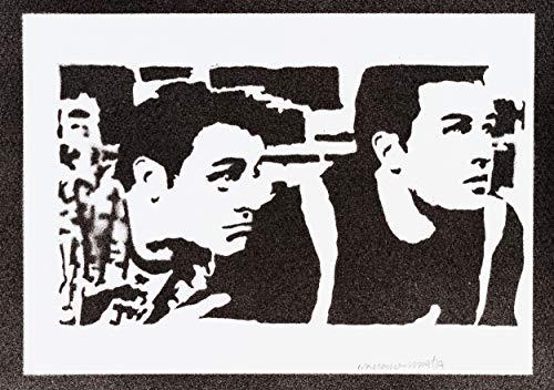 Póster Friends Chandler Y Joey Grafiti