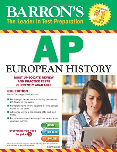 Barron's AP European History , 8th Edition [With CDROM] (Barron's AP European History (W/CD))