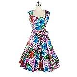 iHAIPI - 1950er 1940er Vintage Inspirierte Schatz-Abschluss Ball Kleid (05. EU 44 (Herstellergröße:XL), 11. Blume 6)