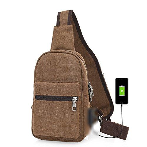 BULAGE Paket Glanz Lässig Brusttasche Mode Reisen Männer Schulter Mehrzweck- Im Freien Laden Multi-funktionale Bequeme Personalisiert Brown