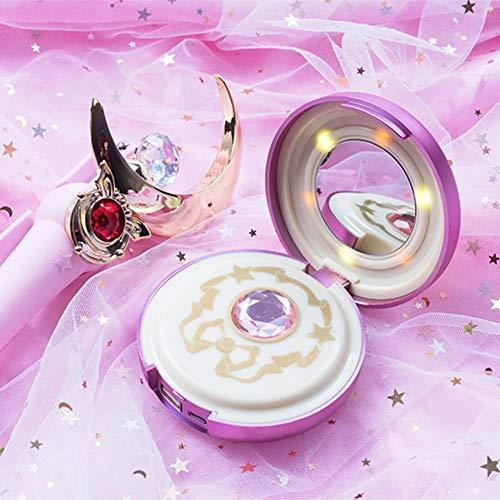 Surenhap Powerbank Make up Specchio & LED Sailor Moon Cristallo Stella Design 8000 mAh Batteria Esterna Power Bank Caricatore
