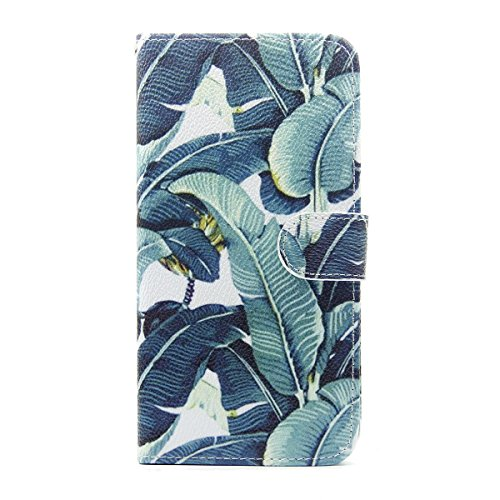iPhone 5S Hülle Case,iPhone SE Hülle Case,Gift_Source [Card Slot] [Kickstand Feature] Magnetic Closure Unique Premium PU Leder Flip Brieftasche Hülle Case Folio Stand Hülle Case Cover für iPhone SE/5s E01-01-Banana leaves