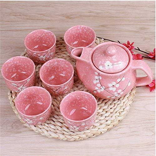 Japanese Cherry Blossom Teapots Set Ceramic Drinkware Tea Pot Home Office Tea Set Kettle Drop A Blossom Bone China