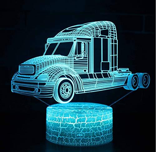 Led Night Lights Led Lamps Bright Novelty Suv Car Shape Led 3d Table Lamp 7 Colors 3d Lights Led Decoration Lamp