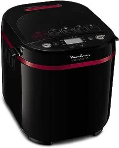 Moulinex OW220830 Machine à Pain 17 Programmes Plastique Noir/Pourpre 31 x 29 x 29 cm