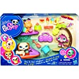 Littlest petshop animaux dans la jungle pets in the jungle 1449 hippopotame 1450 singe - Singe a la plage ...