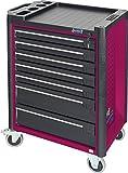 Werkstattwagen 179-7 in pink - inkl 141 Werkzeuge