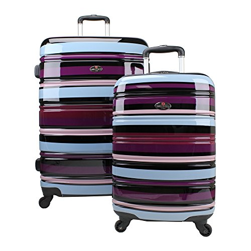59d272f1e74a Swiss 4 Wheel Suitcase Luggage Set of 2