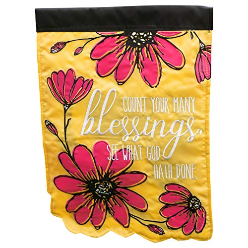 Outdoor Banner Display (Dicksons Count Your Blessings See God Rechteckige Doppel-Applikation, kleine Gartenflagge, 45,7 x 33 cm)