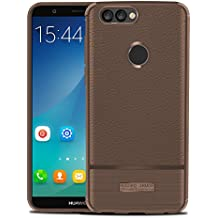 Cover for Huawei P Smart, Instanttool Excellence [Scratch Resistant/Perfect Fit] Huawei P Smart Case Cover Protective Skin Shell Holster (Brown)
