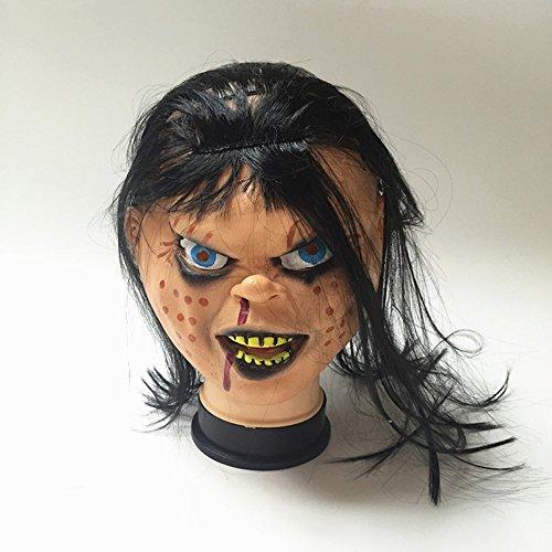 Faultier Goonies Kostüm (fhmy Neuheit Latex Gummi Creepy Scary Ugly Baby den Kopf Goonies Faultier decorationstricky Horror Grimace Ghost Maske Halloween Party)