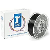 Real Filament 8719128328881 Real PETG, Spool of 1 kg, 1.75 mm, Opaque Black - ukpricecomparsion.eu