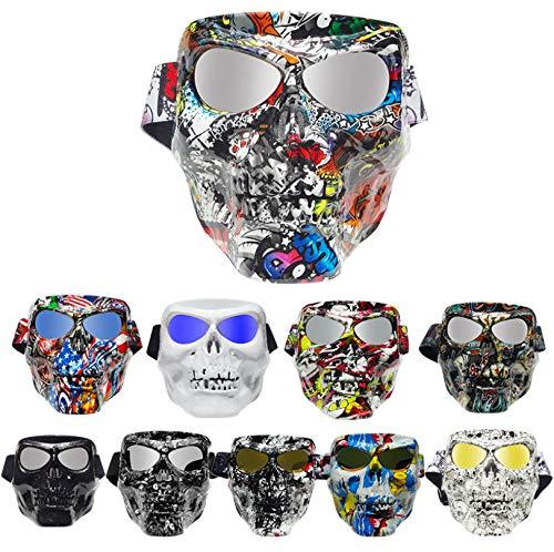 Reiten Kostüm Tier Ein - HYXGG Besondere Schutzausrüstung Persönlichkeit Explosionsgeschützt Sandgeschützte Halloween-Maske Reiten Augenschutzmaske-9