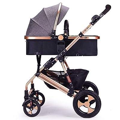 FAFY Kids Pram Travel System 2 In 1 Stroller Buggy Pushchair Reverse Travel System Can Sit Or Lie Baby Stroller,Grey