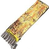 Roeckl Samt Schal 25 x 170cm (+ 15cm Fransen) in Braun-Grün-Tönen scarve