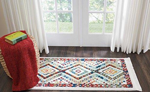 Marca de Amazon - Movian Matevir, alfombra rectangular, 129,5 de largo x 66 cm de ancho diseño geométrico...
