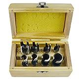 Zapfenschneider/8pc Holz Cutting Tools Schneidesatz Dübel Maker TE062 10 mm Schaft