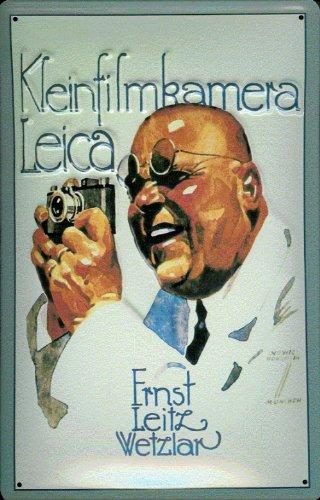 Blechschild Nostalgieschild Kleinbild Kamera Leica Leitz Wetzlar Werbeschild Kleinbildkamera Schild