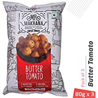 Mr. Makhana Roasted Makhana - 3x80gm - Butter Tomato