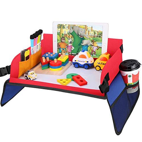 Reisetisch Auto Kinder- kinder Knietablett für Auto Bonus für 1 whiteboard schwamm+ 6 Löschbarer Stift+2 Stück Wasserdicht Stickers Auto Tisch Kinder