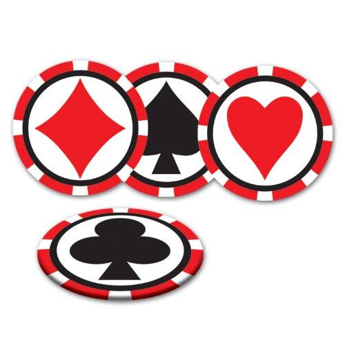 (Beistle Casino Untersetzer (Verschiedene Designs) (8/Pkg))
