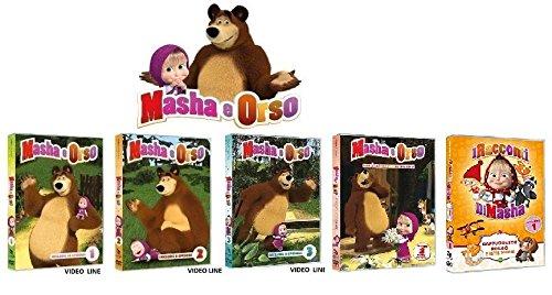 MASHA e ORSO Volume 1-2-3 + Non e' facile essere piccoli +I Racconti di Masha (5 Dvd) VENDUTO DA VIDEO LINE
