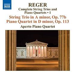 Streichtrio In A-moll, Op. 77b Klavierquartett In D-moll, Op. 113