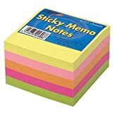 Tigre Sticky Notes Memo Neon Bloc cube Pad 7,6x 7,6cm 450feuilles, Lot de 3