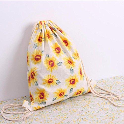 Bzline® Donna Borsa Da Viaggio Con Coulisse A Tracolla Zaino Shopping Bag Da Viaggio Zaino, 40cm × 35cm G