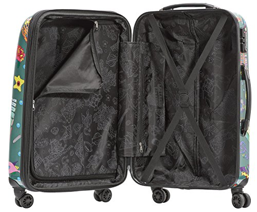 Packenger One World by Della 3er-Koffer, Trolley, Hartschale set in Olivgrün, Größe M, L und XL - 4