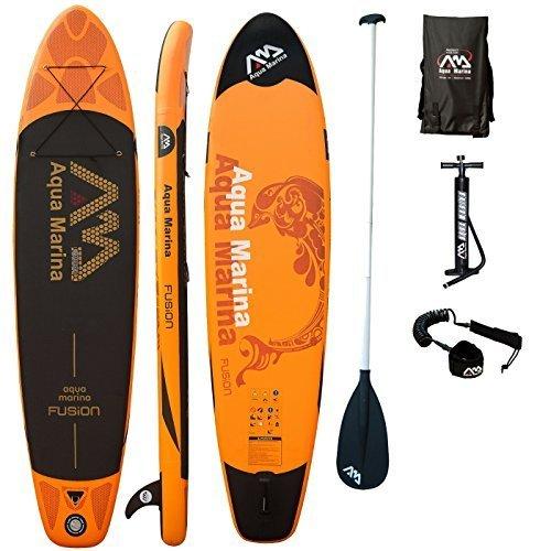 AQUA MARINA, FUSION+ALU-Paddle+LEASH, Paddle Board, SUP… | 04260472531655