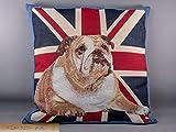 Kissen Englische Bulldogge vor Union Jack